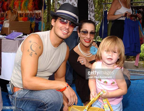 Antonio Sabato Jr and daughter Mina at TROO during Silver Spoon Hollywood Buffet Day Two at Private Estate in Los Angeles California United States...