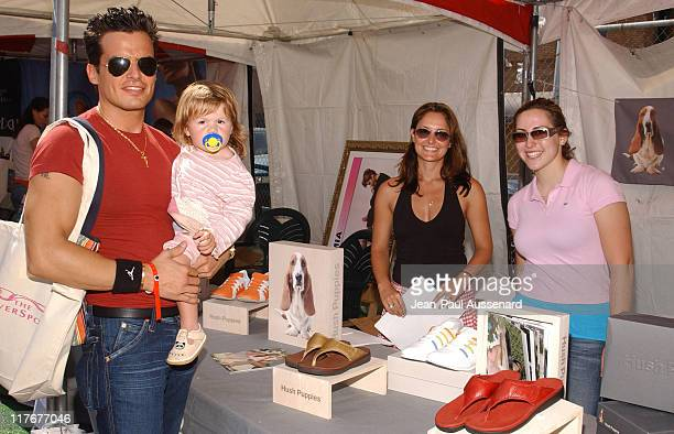 Antonio Sabato Jr and daughter Mina Bree at Hush Puppies Photo by JeanPaul Aussenard/WireImage for Silver Spoon