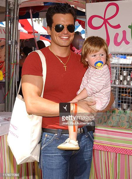 Antonio Sabato Jr and daughter Mina Bree at Jubilee Designs Photo by JeanPaul Aussenard/WireImage for Silver Spoon