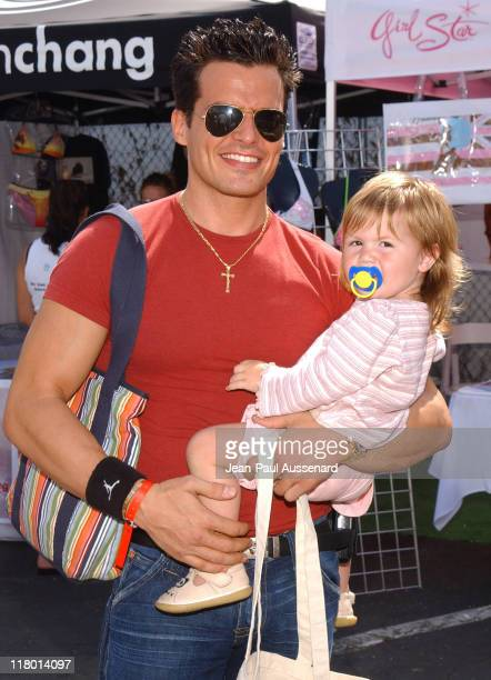 Antonio Sabato Jr and daughter Mina Bree during Silver Spoon Hollywood Buffet Day One at Private Estate in Hollywood California United States Photo...
