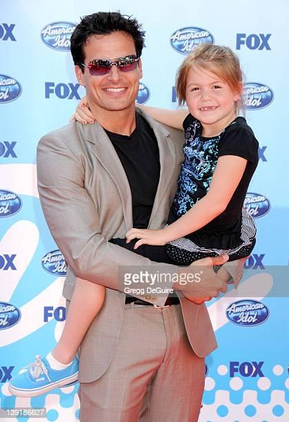 Antonio Sabato Jr and daughter Mina Bree Sabato arrive at the American Idol Season 8 Finale held at the Nokia Theatre LA Live on May 20 2009 in Los...
