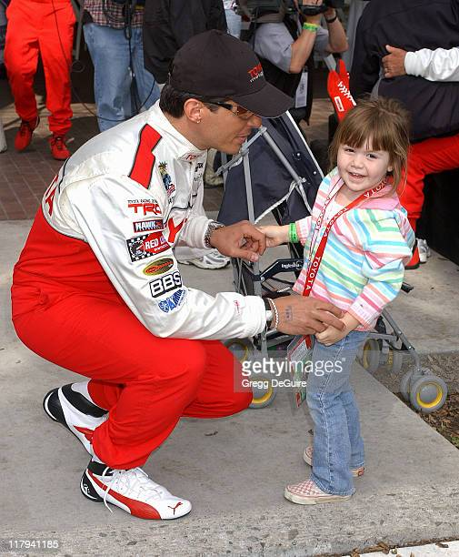 Antonio Sabato Jr and daughter Mina during 30th Anniversary Toyota Pro/Celebrity Race Qualifying Day at Long Beach Streets in Long Beach California...