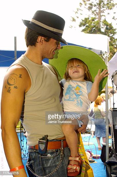 Antonio Sabato Jr and daughter Mina during Silver Spoon Hollywood Buffet Day Two at Private Estate in Los Angeles California United States Photo by...