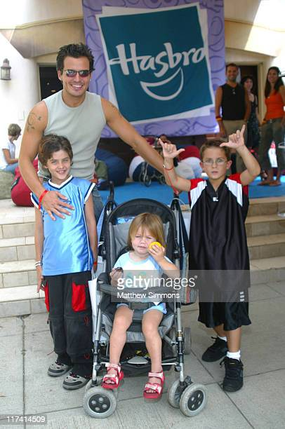 Antonio Sabato Jr and family at Hasbro during Hasbro at the Silver Spoon Hollywood Buffet Day Two at Private Residence in Los Angeles Calfornia...