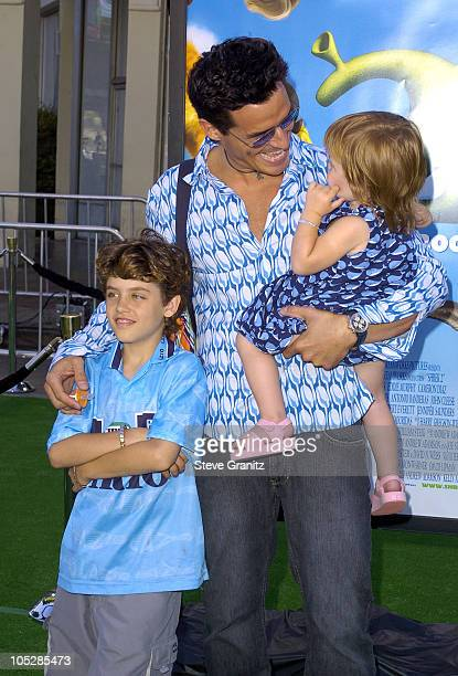 Antonio Sabato Jr and family during 'Shrek 2' Los Angeles Premiere at Mann Village Theatre in Westwood California United States
