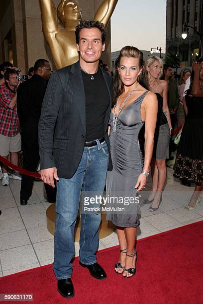 Antonio Sabato Jr and guest attends World Music Awards 2005 at Kodak Theatre on August 31 2005 in Hollywood CA