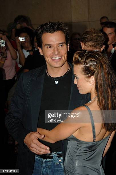 Antonio Sabato Jr and guest during 2005 World Music Awards Arrivals at Kodak Theater in Hollywood California United States