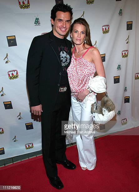 Antonio Sabato Jr and guest during 4th Annual Golden Boomerang Awards Arrivals at Four Seasons Hotel in Beverly Hills California United States
