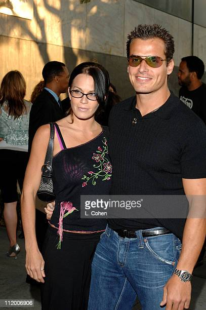 Antonio Sabato Jr and guest during CBS 2005 TCA Party Red Carpet at Hammer Museum in Los Angeles California United States