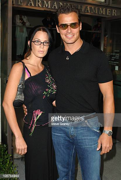 Antonio Sabato Jr and guest during CBS Summer 2005 Press Tour Party Arrivals at Hammer Museum in Westwood California United States