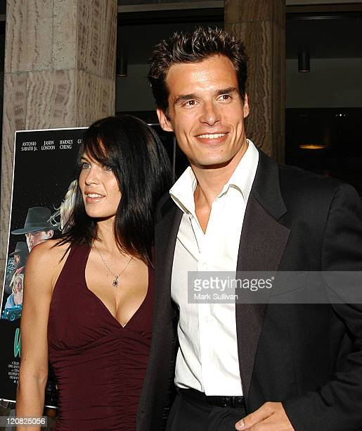 Antonio Sabato Jr and guest during Screening of Wasabi Tuna at Arclight Cineramadome in Hollywood California United States