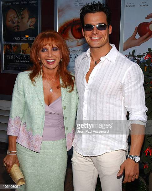 Antonio Sabato Jr and his mother during 'Wasabi Tuna' Los Angeles Premiere Arrivals at Laemmle Sunset Five Theatre in Los Angeles California United...