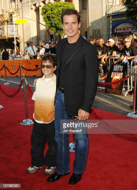 Antonio Sabato Jr and his son during War of the Worlds Los Angeles Premiere and Fan Screening Arrivals at Grauman's Chinese Theater in Los Angeles...