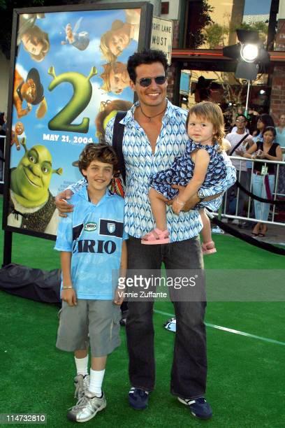 Antonio Sabato Jr and kids attending the 'Shrek 2' Premiere at Mann Village Westwood in Los Angeles California 5/8/04