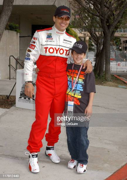 Antonio Sabato Jr and son Jack during 30th Anniversary Toyota Pro/Celebrity Race Qualifying Day at Long Beach Streets in Long Beach California United...