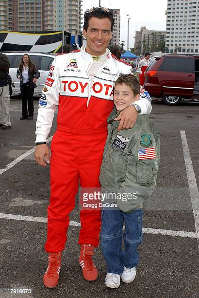 Antonio Sabato Jr and son Jack during 30th Anniversary Toyota Pro/Celebrity Race Press/Practice Day at Long Beach Streets in Long Beach California...