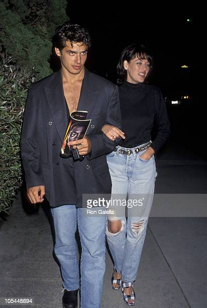 Antonio Sabato Jr and Virginia Madsen during Premiere of 'Rising sun' at Samuel Goldwyn Theater in Beverly Hills California United States