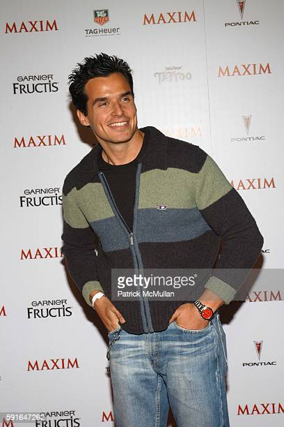 Antonio Sabato Jr attends Maxim Magazine Unveils their 'HOT 100' for 2005 at Hollywood on May 12 2005