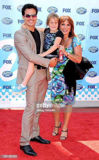 Antonio Sabato Jr daughter Mina Bree Sabato and mom arrive at the American Idol Season 8 Finale held at the Nokia Theatre LA Live on May 20 2009 in...