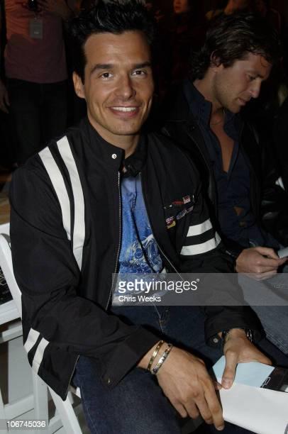 Antonio Sabato Jr during MercedesBenz Fall 2004 Fashion Week at Smashbox Studios Custo Barcelona Front Row at Smashbox Studios in Culver City...