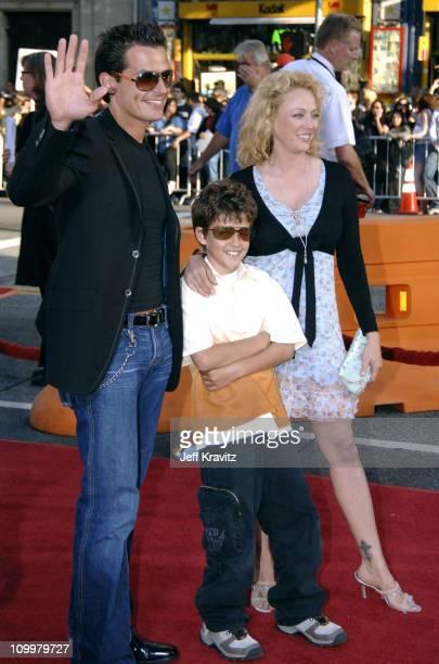 Antonio Sabato Jr his son and Virginia Madsen