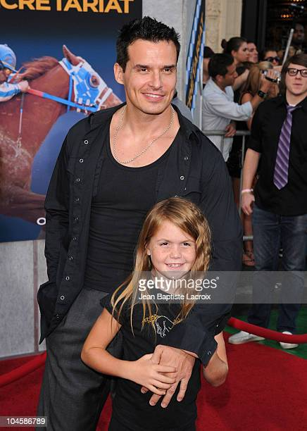 Antonio Sabato Jr Mina Bree attend the 'Secretariat' film premiere at the El Capitan Theatre on September 30 2010 in Hollywood California