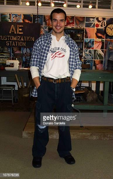 Antonio Sabato Jr Models American Eagle Clothing at American Eagle Showroom in Los Angeles California