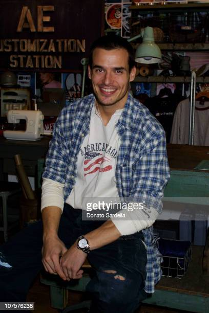 Antonio Sabato Jr Models American Eagle Clothing at American Eagle Showroom in Los Angeles California