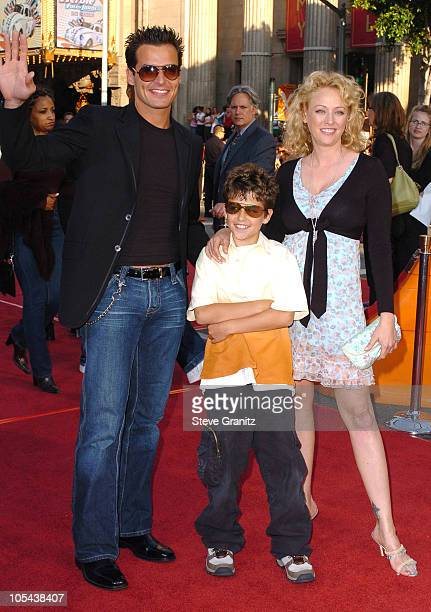 Antonio Sabato Jr son Jack and Virginia Madsen during 'War of the Worlds' Los Angeles Fan Screening Arrivals in Los Angeles California United States