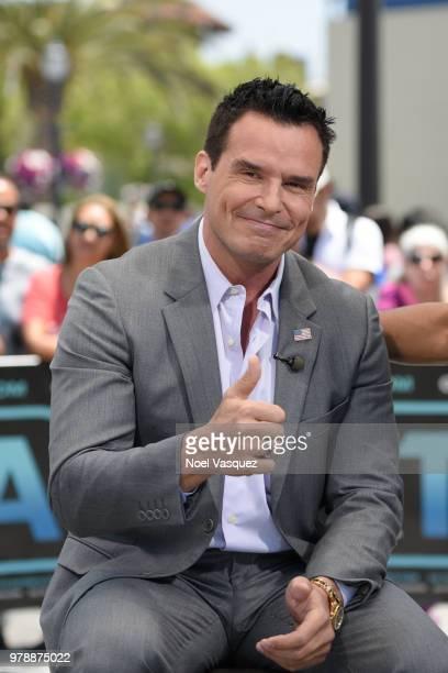 Antonio Sabato Jr visits 'Extra' at Universal Studios Hollywood on June 19 2018 in Universal City California