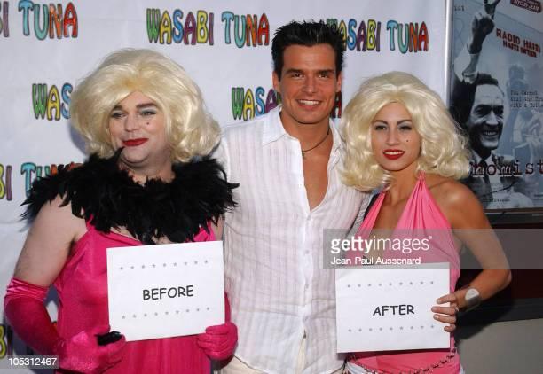 Antonio Sabato Jr with Anna Nicole Smith impersonators