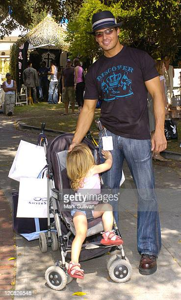 Antonio Sabato Jr with daughter Mina during Silver Spoon Hollywood Buffet Day Two at Private Estate in Los Angeles California United States Photo by...