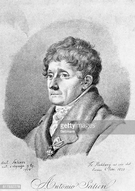Antonio Salieri Italian composer Engraving 1821