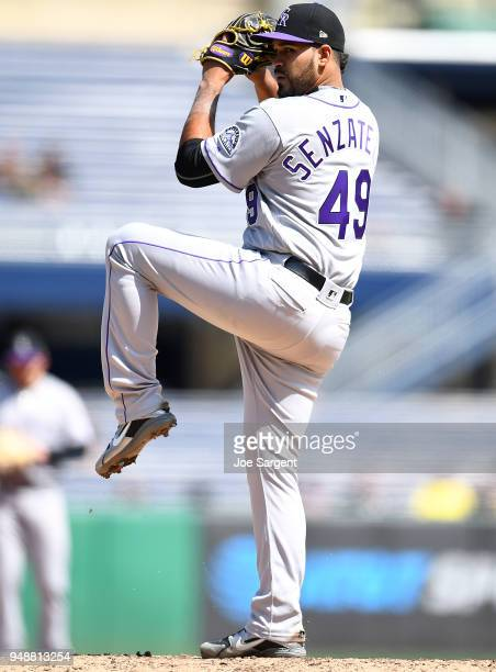 Antonio Senzatela of the Colorado Rockies pitches during the game against the Pittsburgh Pirates at PNC Park on April 18 2018 in Pittsburgh...