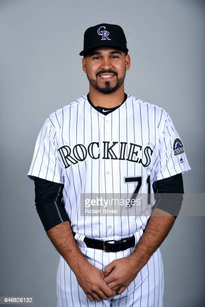 Antonio Senzatela of the Colorado Rockies poses during Photo Day on Thursday February 23 2017 at Salt River Fields at Talking Stick in Scottsdale...