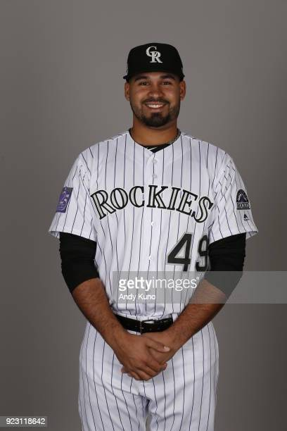 Antonio Senzatela of the Colorado Rockies poses during Photo Day on Thursday February 22 2018 at Salt River Fields at Talking Stick in Scottsdale...