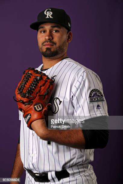 Antonio Senzatela of the Colorado Rockies poses on photo day during MLB Spring Training at Salt River Fields at Talking Stick on February 22 2018 in...