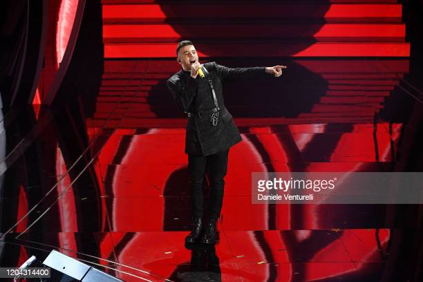 Antonio Signore aka Junior Cally attends the 70° Festival di Sanremo at Teatro Ariston on February 05 2020 in Sanremo Italy