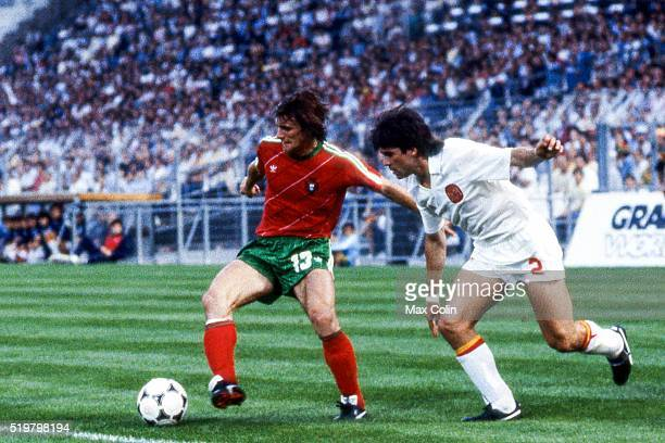 Antonio Sousa of Portugal during the Football European Championship between Portugal and Spain Marseille France on 17 June 1984