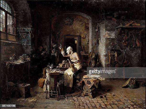 Antonio Stradivari in His Atelier by Antonio Rinaldi 1886 Cremona Museo Civico