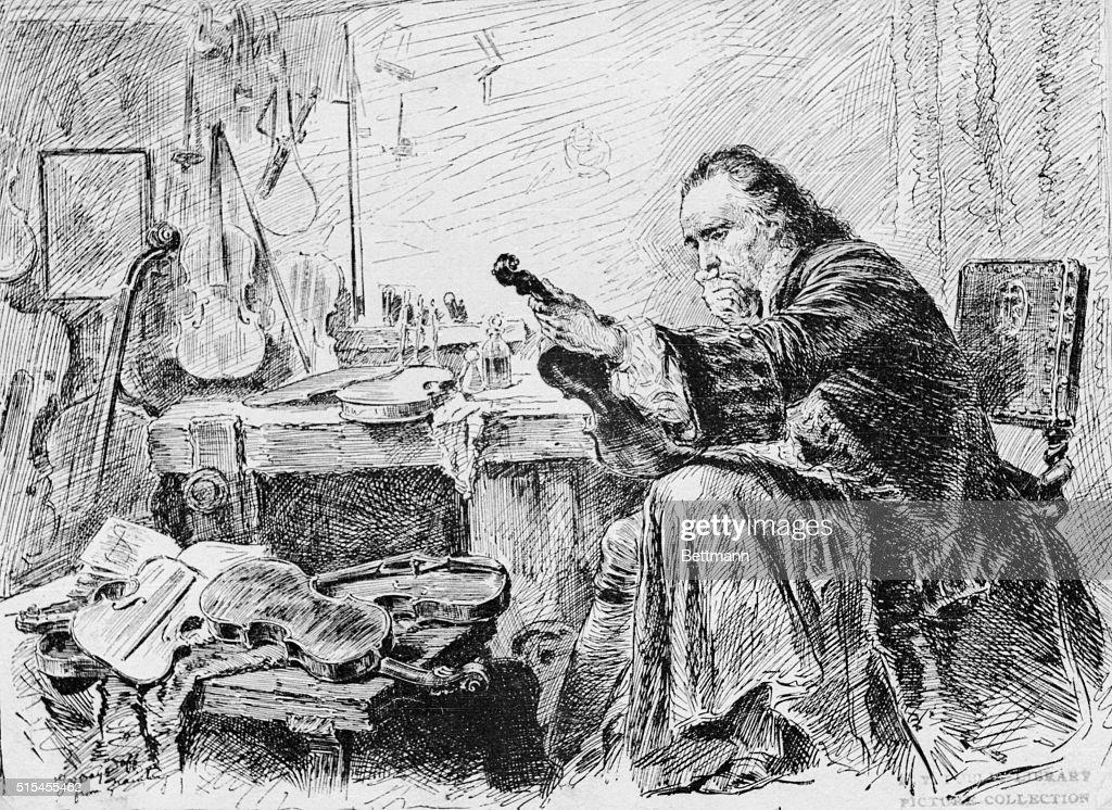 Portrait of Antonio Stradivari : Photo d'actualité