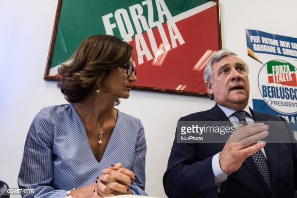 Antonio Tajani and Mariastella Gelmini during the Press conference of Forza Italia to illustrate its proposals for profoundly correcting the dignity...