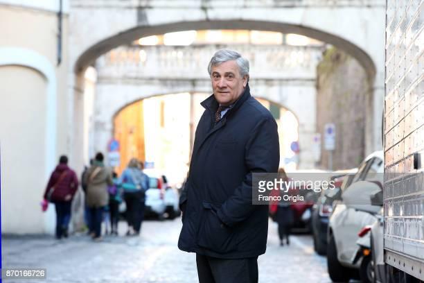 Antonio Tajani arrives at the European Parliament Headquarters on February 17 2017 in Rome Italy