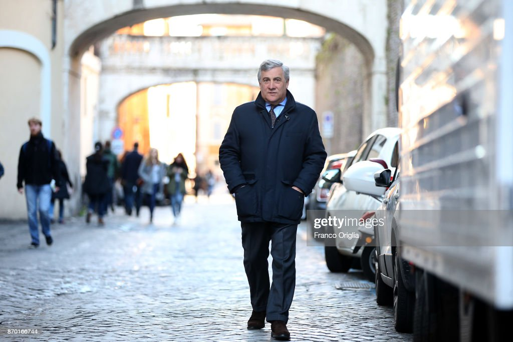 President Of The European Parliament Antonio Tajani Portrait Session - February 2017