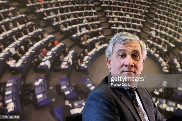 Antonio Tajani poses for a portrait session at European Parliament Headquarters on February 17 2017 in Rome Italy
