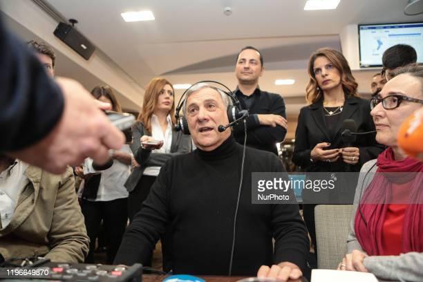 Antonio Tajani vice-president of 'Forza Italia' in Lamezia Terme , Italy, on 26 January 2020. Jole Santelli becomes new President of the Calabria...