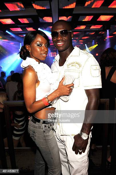 Antonio Tarver and Denise Tarver attend Jet nightclub at The Mirage Hotel and casino Resort on July 6 2009 in Las Vegas Nevada
