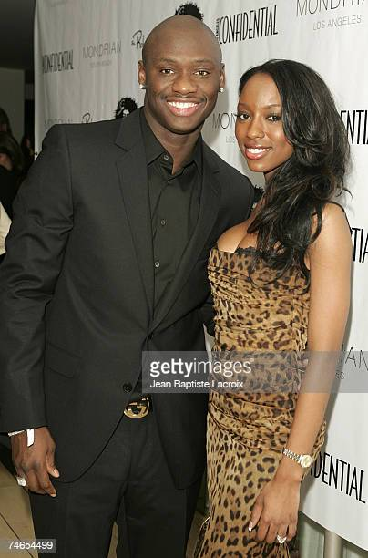 Antonio Tarver and wife Denise at the Skybar at Mondrian Hotel in West Hollywood California