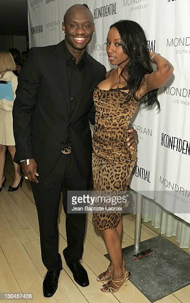 Antonio Tarver and wife Denise during Los Angeles Confidential Magazine in Association with Morgans Hotel Group Celebrates the 2007 Oscars with...
