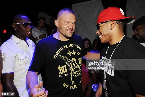 Antonio Tarver Chuck Liddell and Nelly attend Jet nightclub at The Mirage Hotel and casino Resort on July 6 2009 in Las Vegas Nevada